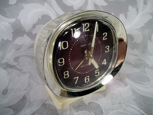 Sold Vtg 1980 S Westclox Baby Ben White Style 9 Alarm
