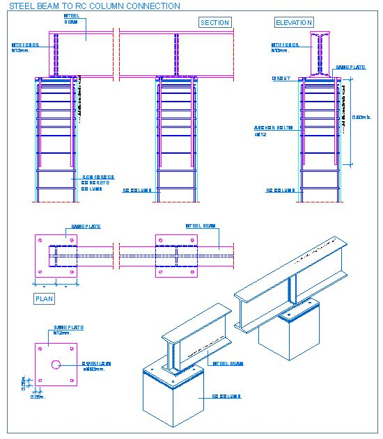 17 best images about structural steel farnsworth steel beam to rc column connection detallesconstructivos net