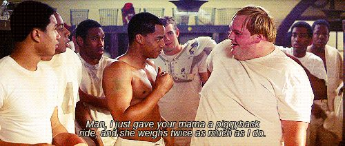 Remember the Titans(: back pain jokes