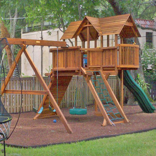 Backyard Playground Ground Cover :  ground cover that provides excellent fall protection