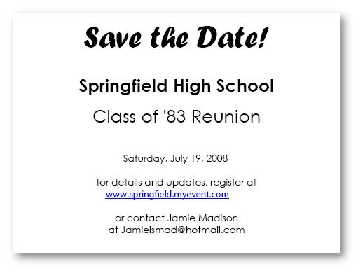 58 best save the date images on pinterest family meeting craft planning tips and ideas for your high school reunion this class reunion planner will make planning a class reunion or high school reunion very easy stopboris Image collections