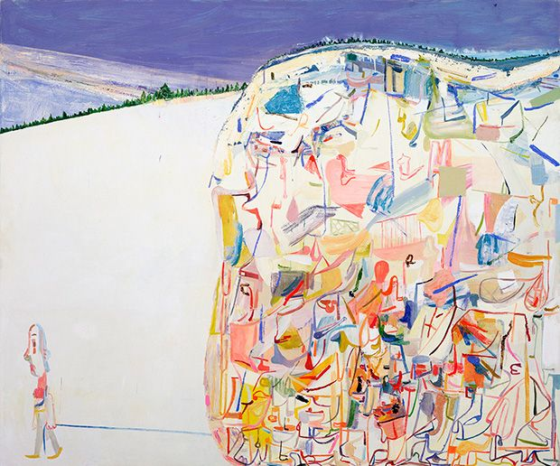 Amy Sillman's Me & Ugly Mountain, 2003. Collection of Jerome and Ellen Stern. Photo by John Berens.BOSTON - The excellent painter Amy Sillman...