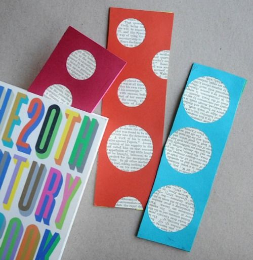 Homemade bookmarks using book pages for Simple bookmarks