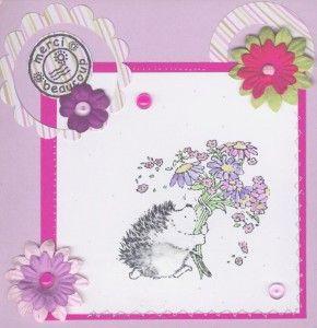 Ce modèle de carte de remerciement reprend l'idée des tampons Penny Black de la carte d'anniversaire présentée cette semaine.