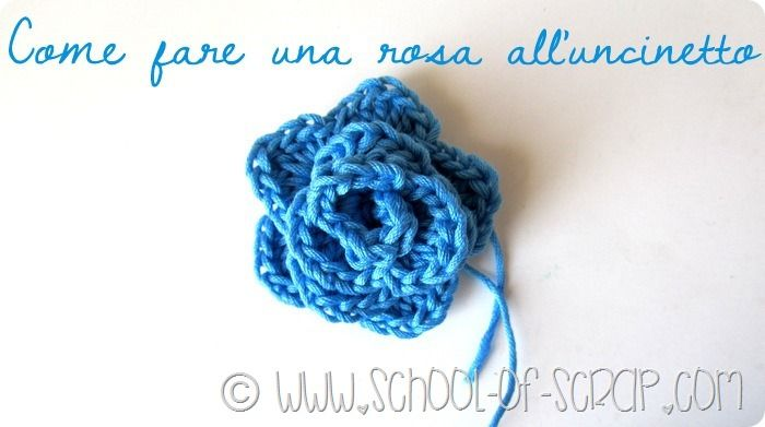 """""""Scuola di Uncinetto: come fare una rosa a crochet"""""""