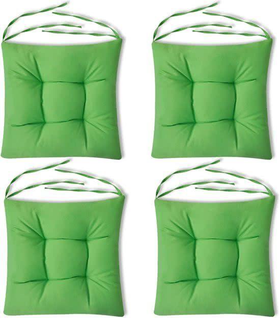 Stoelkussens groen set van 4
