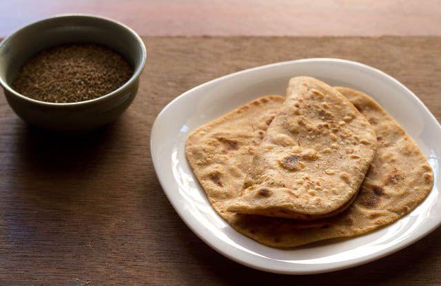 ajwain paratha - flaky & crisp whole wheat flat bread stuffed with carom seeds.