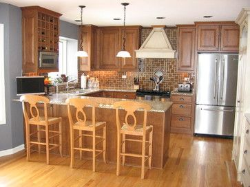 U Shape Kitchen With Bar Stool Design, Pictures, Remodel, Decor and Ideas - page 7