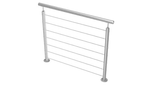 Garde corps aluminium 7 câbles en aluminium Nao Fermetures, une moderne pour vos escalier extérieur #Gardecorpsalu#gardecorpsaluminium#gardecorpscable#design#balustrade