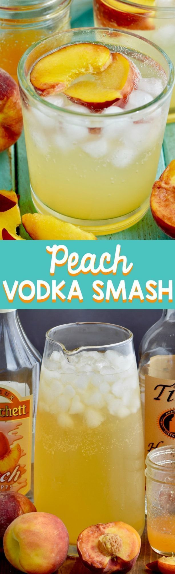 This Peach Vodka Smash is the perfect summer cocktail! Refreshing and delicious! #summercocktails