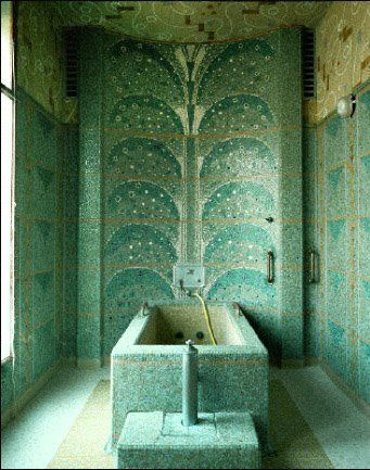 #artdeco mosaic tile bathroom                                                                                                                                                                                 More