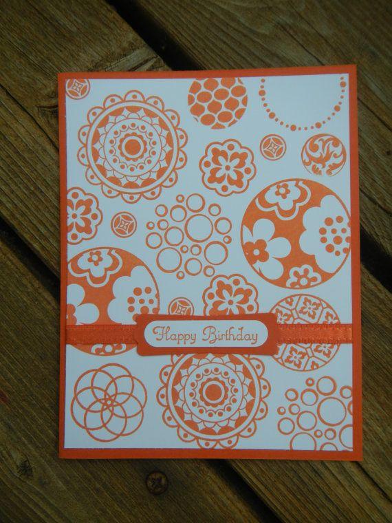 Handmade Stampin Up Birthday Card - Circle Circus