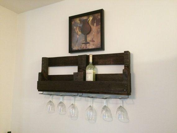 Wooden Pallet Wine Rack by FIVEiDESIGNS on Etsy