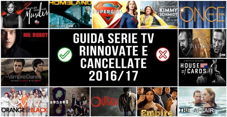 Rinnovi e Cancellazioni serie tv 2016