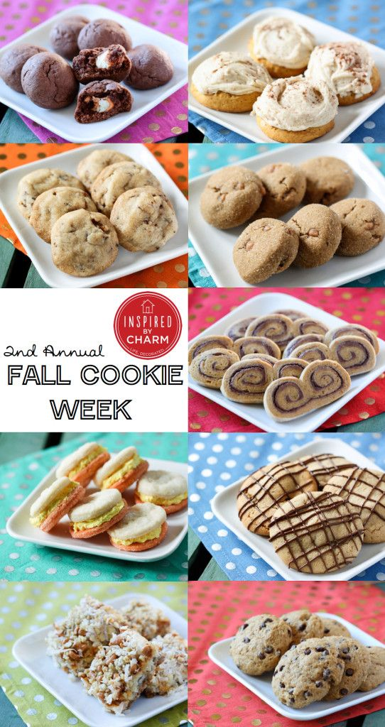 NINE delicious fall-inspired cookies! It's Fall Cookie Week on Inspired by Charm!