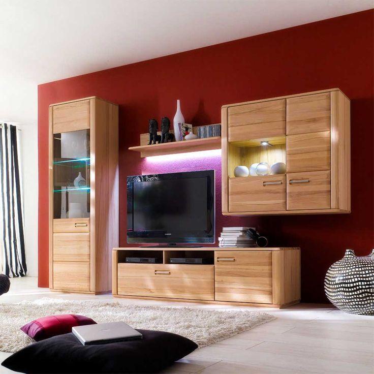 Les 25 meilleures idées de la catégorie Wohnwand massiv sur - schrankwand wohnzimmer modern