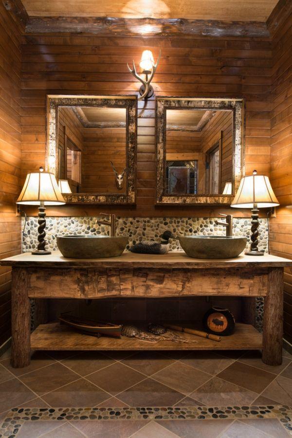 accessoires kiesel holz im badezimmer waschbecken