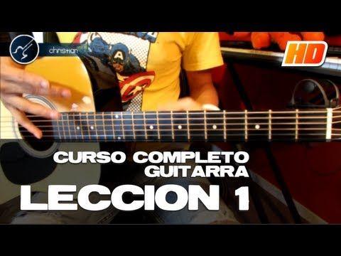 """Cómo tocar Guitarra Principiantes """"LECCIÓN 1"""" (HD) Guitarra Acústica CURSO COMPLETO - Christianvib - YouTube"""