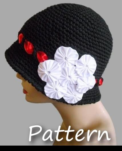 CROCHET PATTERN Pdf - Instant Digital Download - Twilight Crocheted Cloche - Women, Teen - CAN sell finished items on Etsy, $4.50