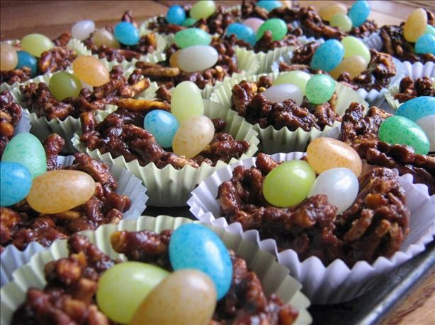 Peanut-Free Easter Nests with Jelly Bean Eggs