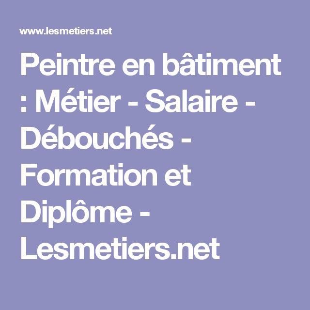 Peintre en bâtiment : Métier - Salaire - Débouchés - Formation et Diplôme - Lesmetiers.net