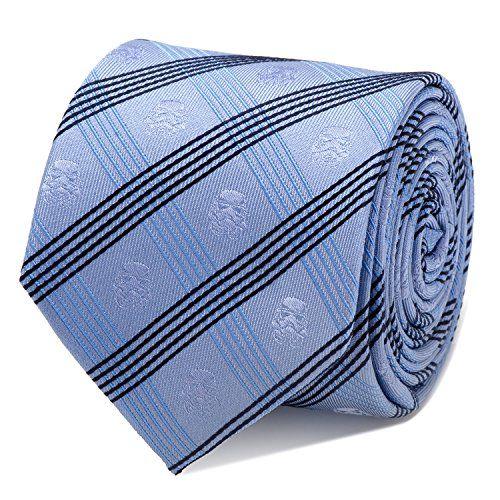 Star Wars Stormtrooper Blue Plaid Tie