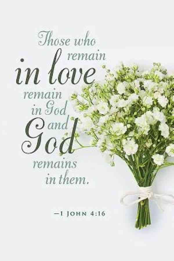1 John 4 16 Wedding Scripture Anniversary Quotes Wedding Bible