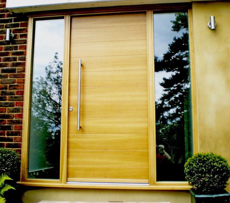 Modern wood front door www.rubben.co.uk