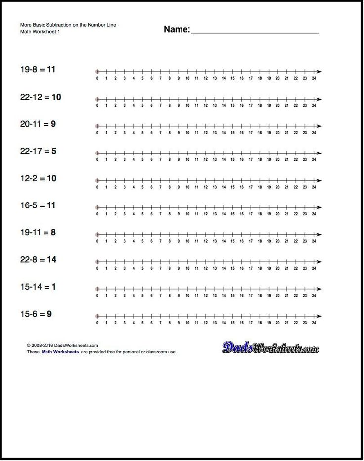 These simple subtraction worksheets introduce subtraction