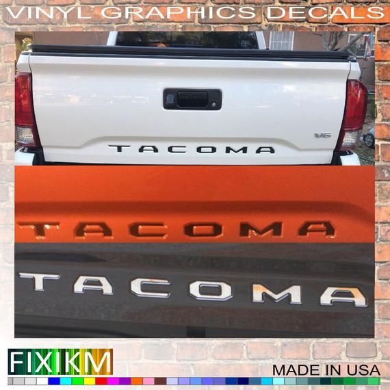 Toyota Tacoma Tailgate USA Flag Vinyl Letter Decals Stickers