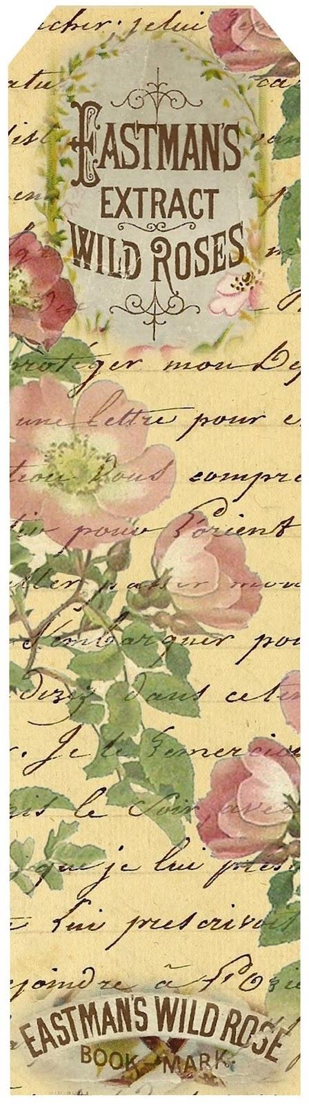 Sweet Wild Roses ~ bookmark