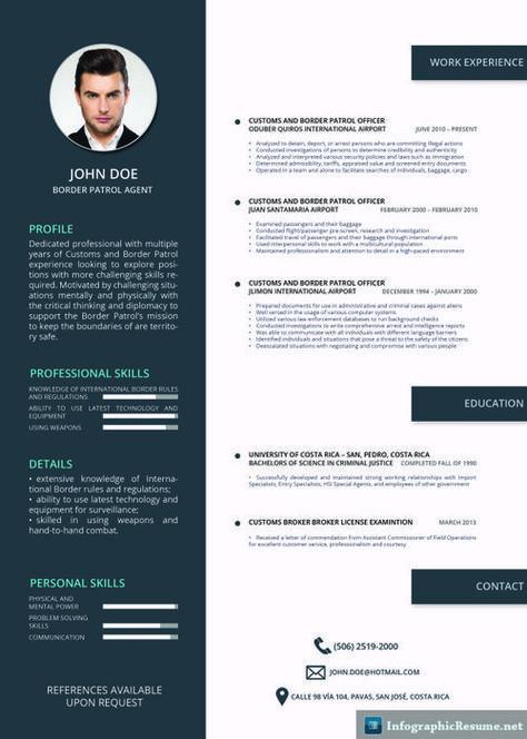 21 best Creative CV Templates Download images on Pinterest - surveillance agent sample resume