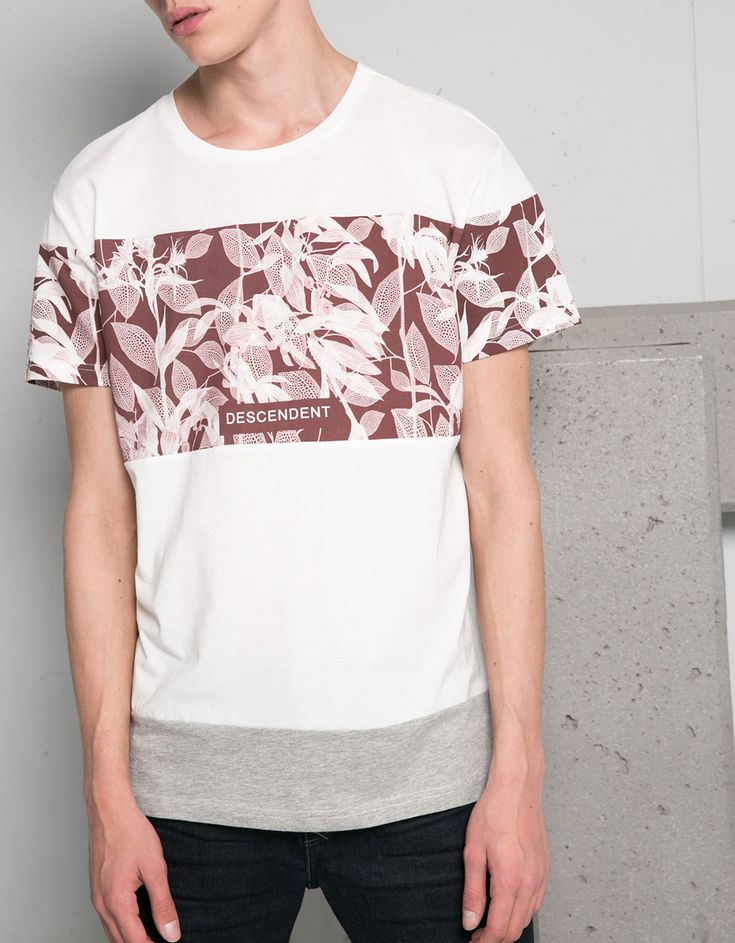 Mixed print t shirt discover this and many more items in for Print one t shirt