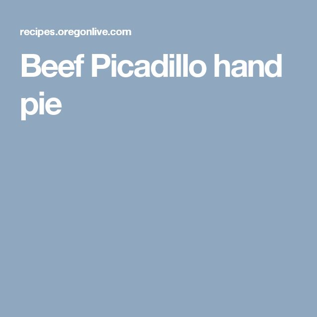 Beef Picadillo hand pie