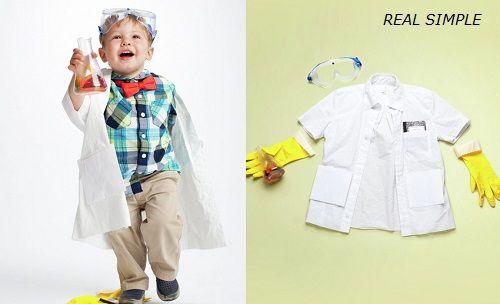 Disfraz de científico loco de Real Simple
