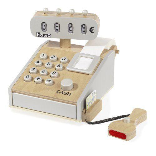 Spielkasse aus Holz incl Spielgeld von howa 4860 von howa Spielwaren