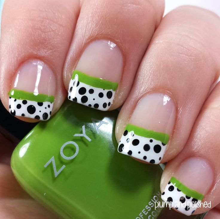 """ShopLately - French Tip Dip Nail Art"" by Ashley Eileen on Plump and Polished"