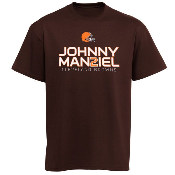 Johnny Manziel Cleveland Browns Historic Logo Youth Player Johnny Cleveland Graphic T-Shirt - Brown - $10.99