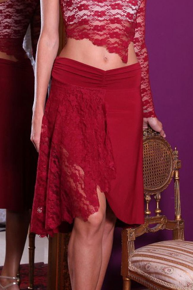 Bordeaux Jersey, Bordeaux Lace Skirt