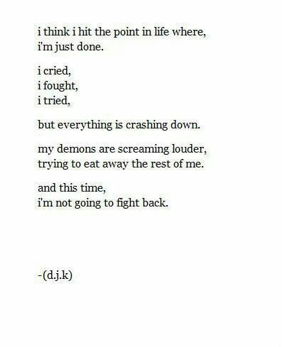 I'm done fighting. | Self Harm awareness | Pinterest ...