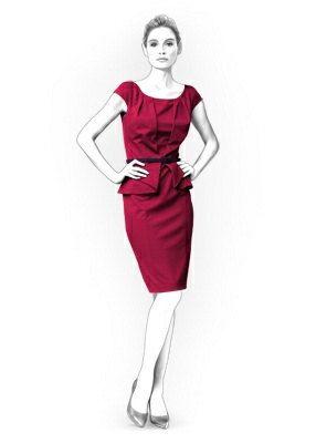 Peplum Dress Pattern / Tiptopfit via Etsy.