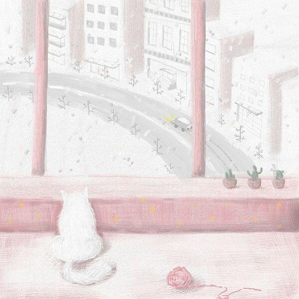 One snowy day 1  http://m.blog.naver.com/hellomia_/220185770026
