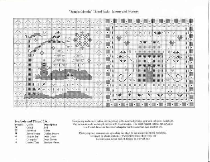 Примитивный сэмплер-календарь 1,вышивка. Обсуждение на LiveInternet - Российский Сервис Онлайн-Дневников