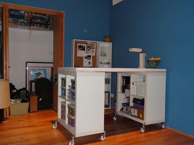 diy craft table/ikea hack