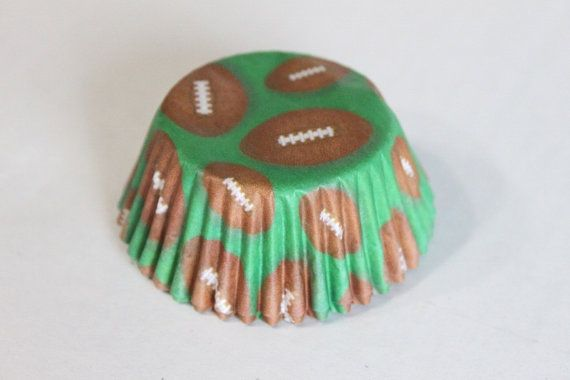 Football cupcake liner football cupcake paper by OneFineParty