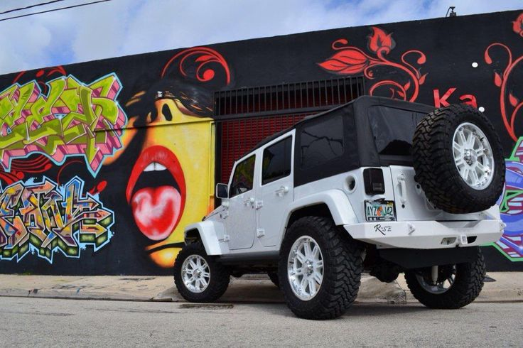All White Jeep Wrangler Unlimited by MC Customs