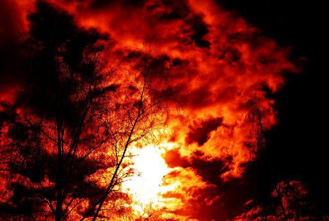 Bíbor felhők Foto: Pintér István
