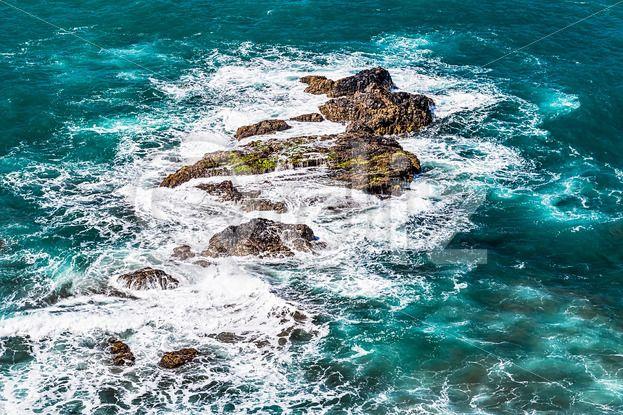 Qdiz Stock Photos | Stones in waves of ocean on shore,  #Atlantic #Canary #foam #island #ocean #sea #shore #Spain #spring #stone #summer #Tenerife #wave