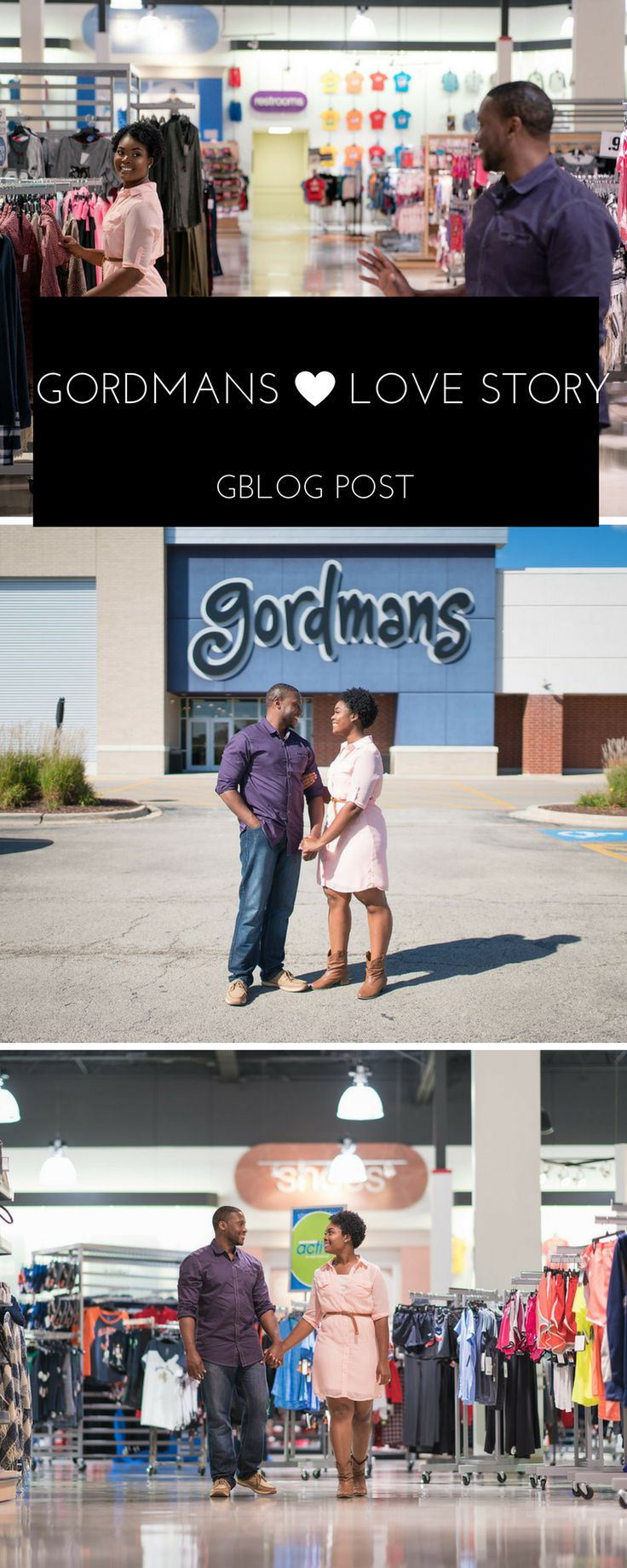 Find out how this adorable couple met and why they took their engagement pictures at a local gordmans store! Read more on this love story