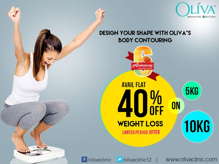 Do you want to shed of your excess weight? Reduce your weight and shape up your body with Non-Surgical Weight Loss treatment @ Oliva Clinics. Avail Flat 40% Off on weight loss treatment. Rush today to any of your nearest Oliva Clinics to avail this 6th Anniversary special limited period offer. Read More: or call 040-44757575 for book your appointment or to know about the exciting offers on other services.